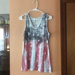 American Flag tank top. Never worn- NWT